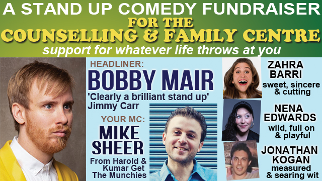 Stand Up Comedy Fundraiser For The Counselling & Family Centre